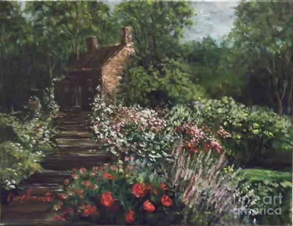 Wall Art - Painting - Cotswolds, English Garden by Lizzy Forrester
