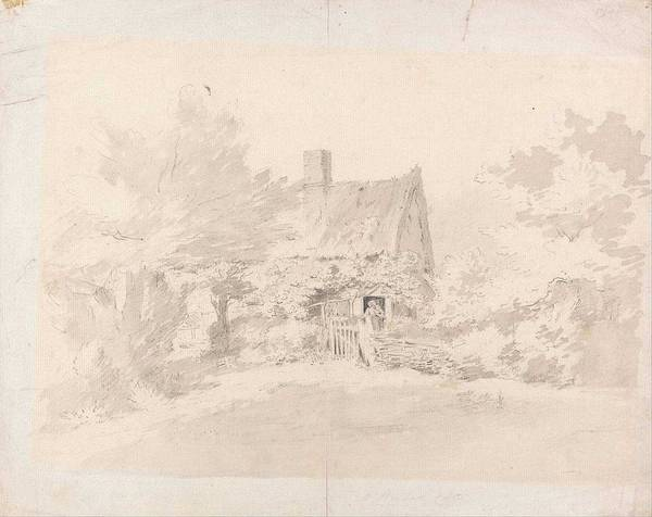 Wall Art - Painting - Cottage Among Trees John Constable by Celestial Images