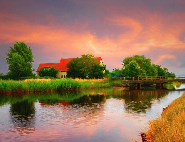 Photograph - Cottage At Sunset  by Debra and Dave Vanderlaan