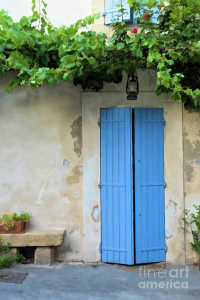 Lourmarin Photograph - Cottage Door, France by Brenda Tharp