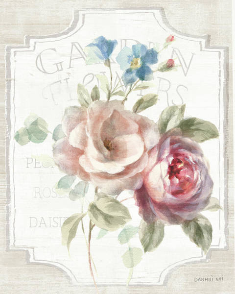Wall Art - Painting - Cottage Garden Iv On Wood by Danhui Nai