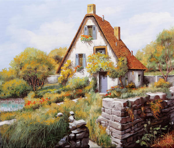 Cottage Wall Art - Painting - Cottage by Guido Borelli