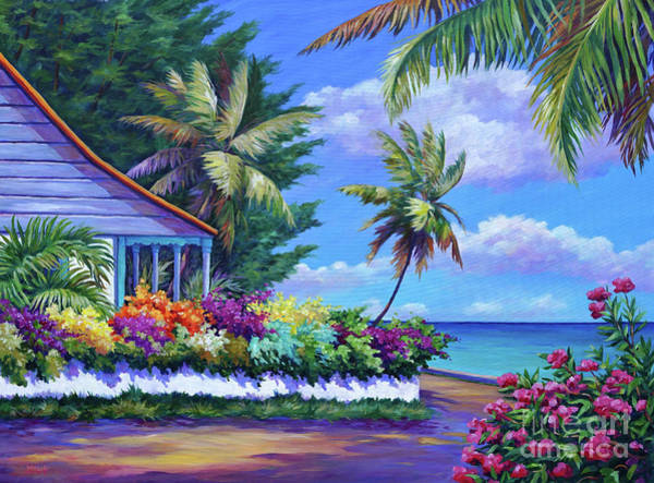 Brac Painting - Cottage Near Eden Rock by John Clark