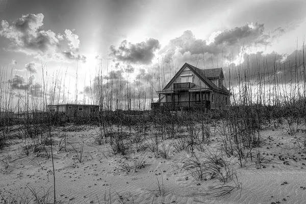Photograph - Cottage On The Dunes In Black And White by Debra and Dave Vanderlaan