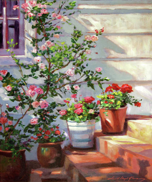 Painting - Cottage Steps by David Lloyd Glover