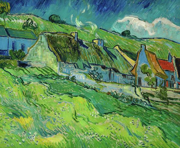 Potato Painting - Cottages, 1890 by Vincent Van Gogh