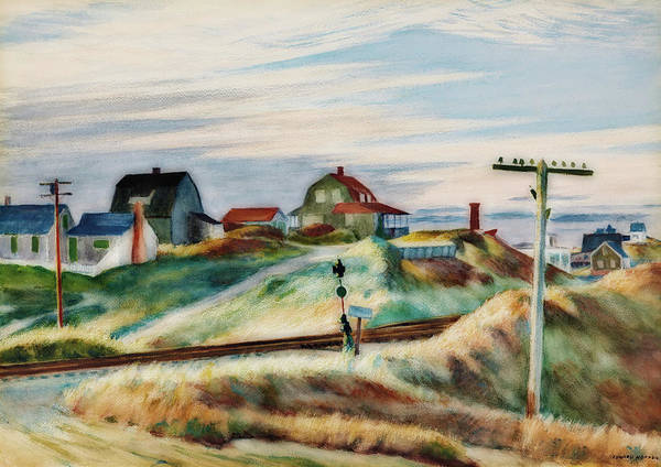 Wall Art - Painting - Cottages At North Truro by Edward Hopper