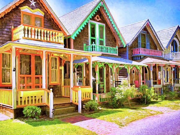 Wall Art - Painting - Cottages On Martha's Vineyard by Dominic Piperata