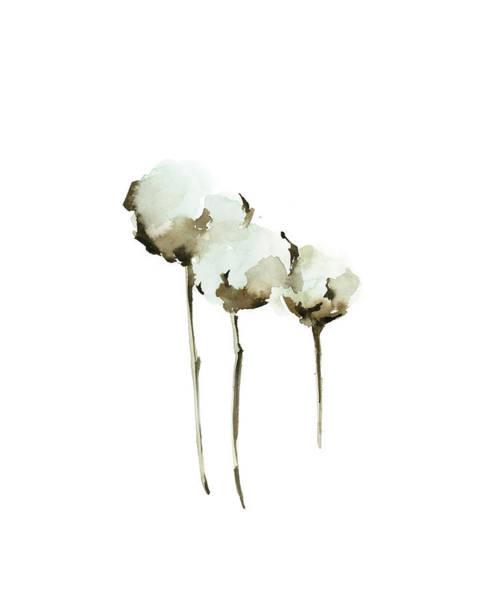 Wall Art - Painting - Cotton Blossom by Sophia Rodionov