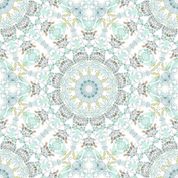 Wall Art - Digital Art - Cotton Mandala by Mo T