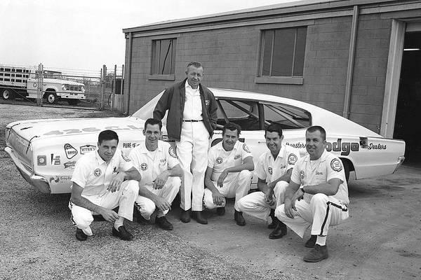 Spartanburg Photograph - Cotton Owens - Nascar Team 1966 by Racingone