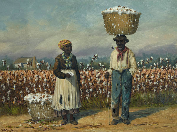 Cotton Painting - Cotton Pickers - 2 by William Aiken Walker