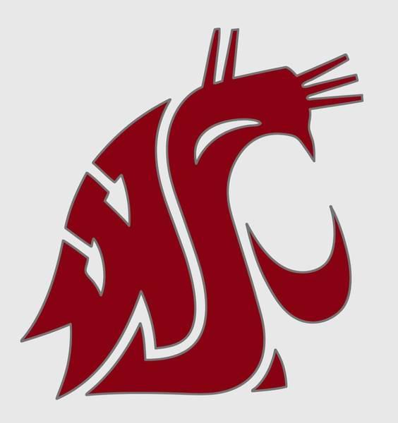 Spokane Digital Art - Cougars W S U Logo - T-shirt by Daniel Hagerman