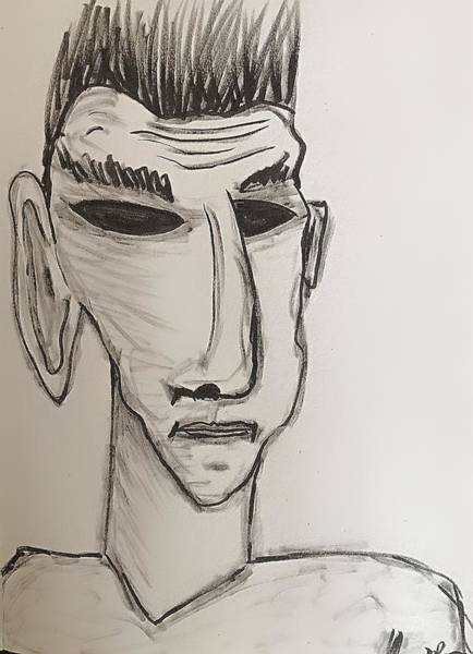 Drawing - Could This Be Me by Mario MJ Perron