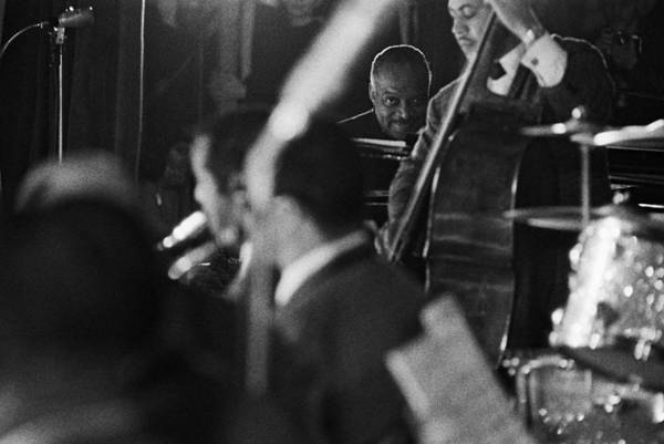 Concert Hall Photograph - Count Basie In Paris, France In 1963 - by Herve Gloaguen