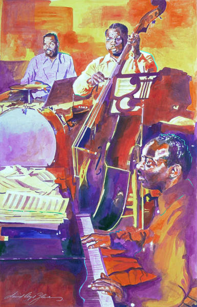 Painting - Count Basie Jazz by David Lloyd Glover