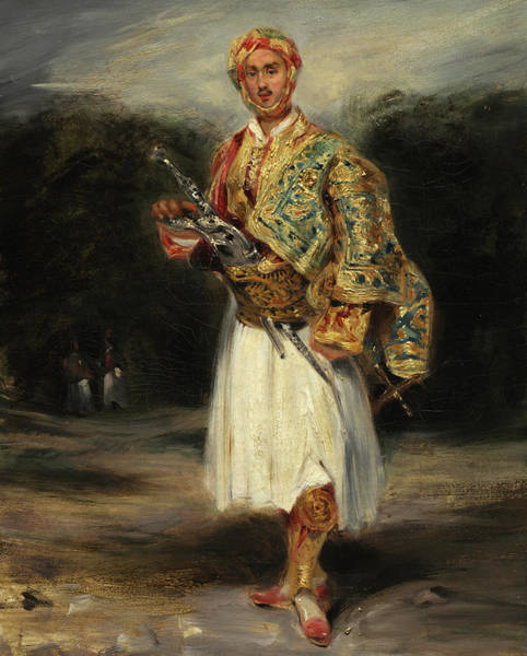 Wall Art - Painting - Count Demetrius De Palatiano In Suliot Costume, 1858 by Eugene Delacroix