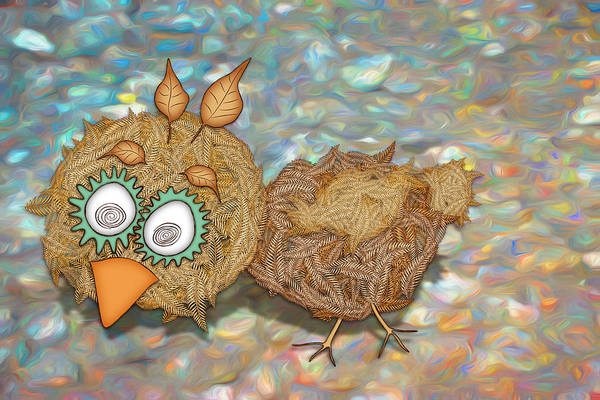 Digital Art - Count Your Chicken by Becky Titus