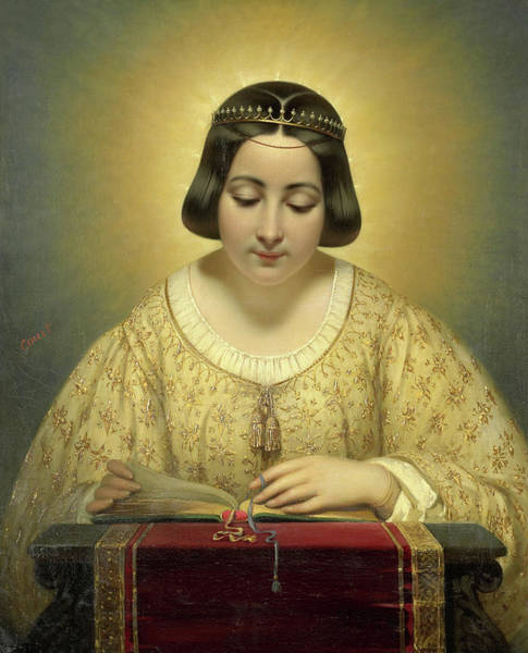 Desire Painting - Countess De Pages, Born Of Cornellan, As St Catherine by Joseph-Desire Court