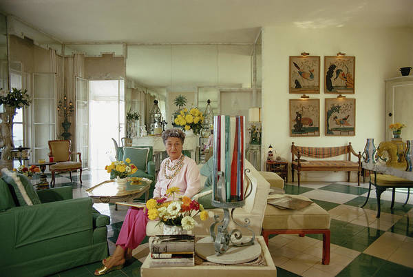 Porto Ercole Photograph - Countess Lili Gerini by Slim Aarons