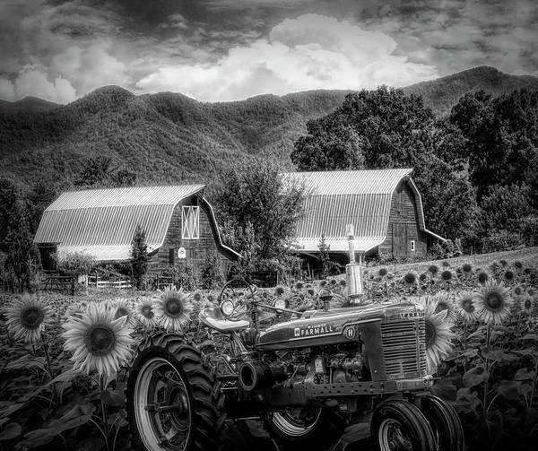 Wall Art - Photograph - Country Black And White by Debra and Dave Vanderlaan