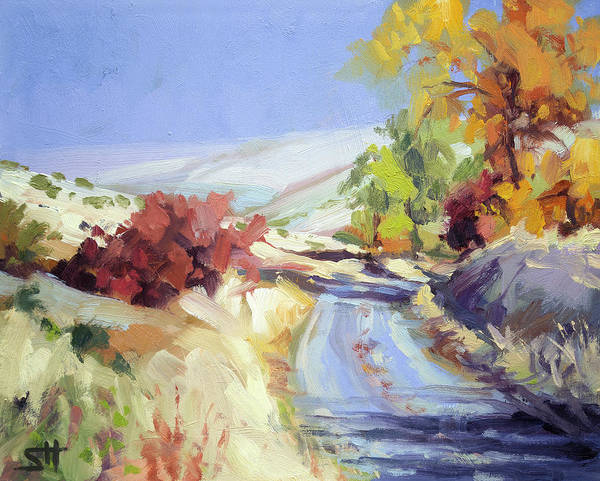 Wall Art - Painting - Country Blue Sky by Steve Henderson