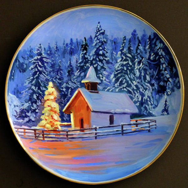 Painting - Country Christmas Chapel by David Lloyd Glover