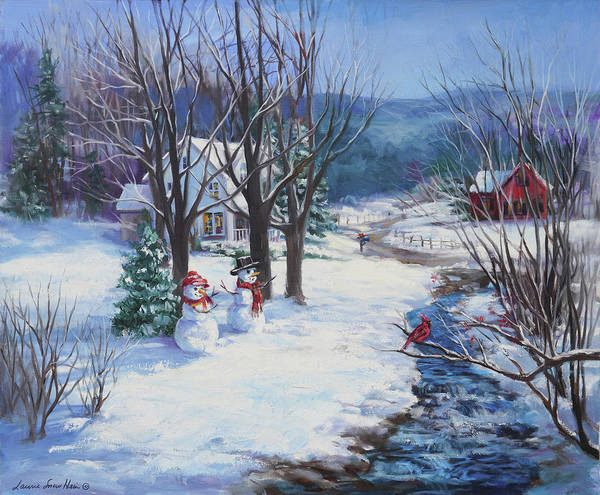 Wall Art - Painting - Country Christmas by Laurie Snow Hein