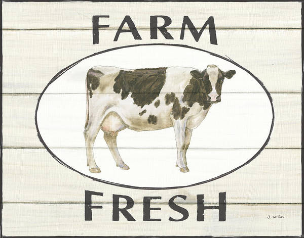 Farmhouse Kitchen Painting - Country Cow Iv by James Wiens