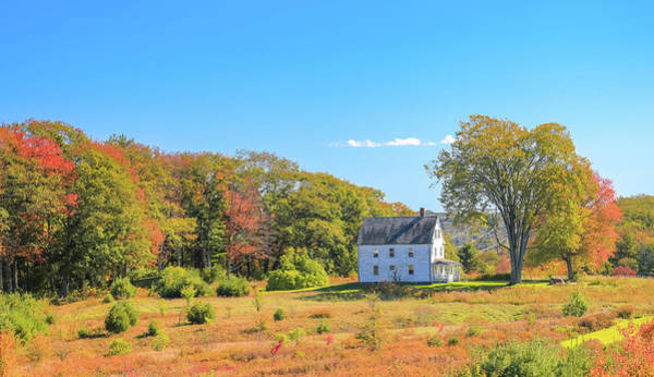 Photograph - Country Farmhouse In Autumn by Dan Sproul