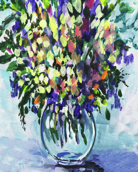 Painting - Country Flowers Bouquet Floral Impressionism  by Irina Sztukowski