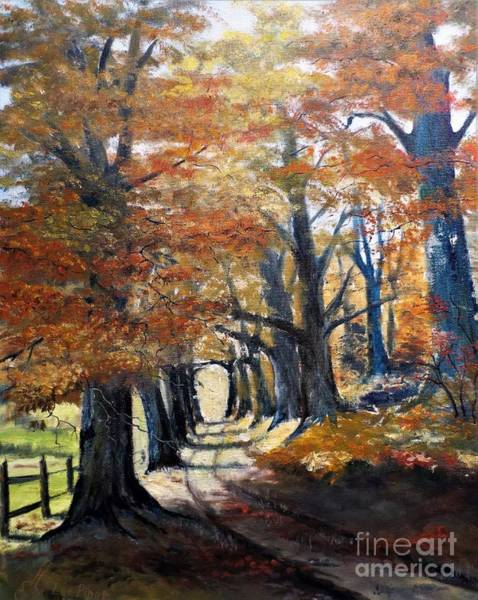 Wall Art - Painting - Country Lane by Lee Piper
