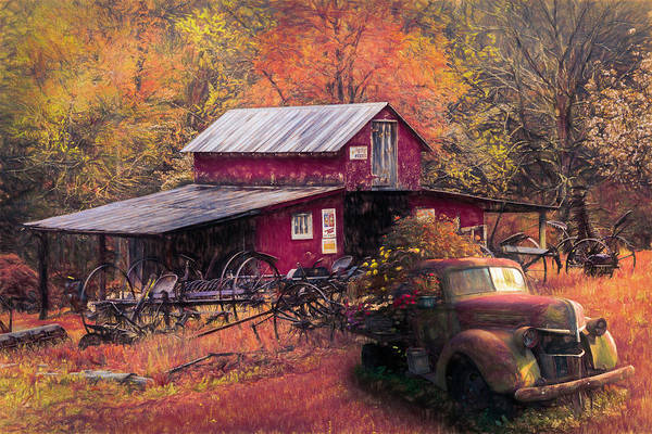 Wall Art - Photograph - Country Memories Oil Painting  by Debra and Dave Vanderlaan