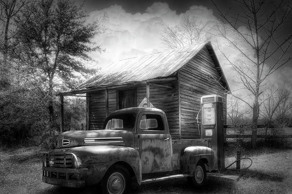 Photograph - Country Olden Days Black And White by Debra and Dave Vanderlaan