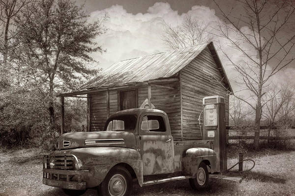 Photograph - Country Olden Days In Vintage Sepia Tones by Debra and Dave Vanderlaan