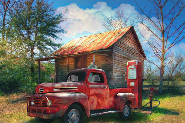Photograph - Country Olden Days Watercolor Painting by Debra and Dave Vanderlaan