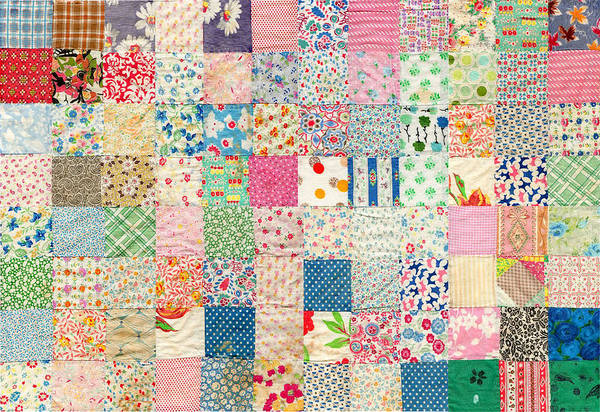 Photograph - Vintage Country Patchwork Quilt by Peggy Collins