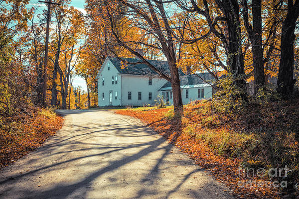 Wall Art - Photograph - Country Road Henniker New Hampshire by Edward Fielding