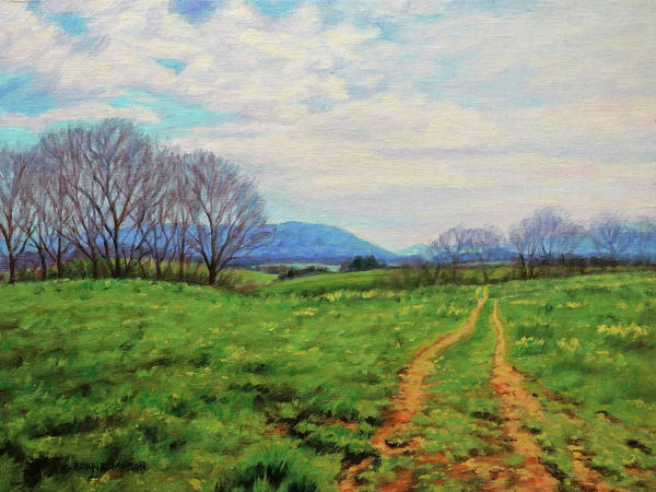 Wall Art - Painting - Country Road - On The Farm In Spring by Bonnie Mason