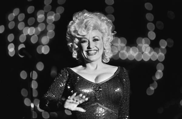 Design Photograph - Country Singer Dolly Parton In Concert by George Rose