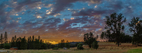 Photograph - Country Sunset Panorama by Jonathan Hansen