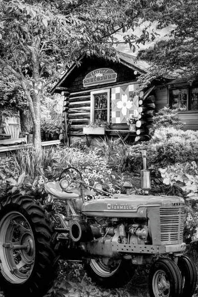 Wall Art - Photograph - Country Town Charm In Black And White by Debra and Dave Vanderlaan