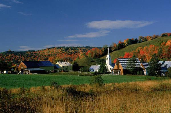 New England Autumn Photograph - Country Village, East Corinth, Vt by Gail Dohrmann