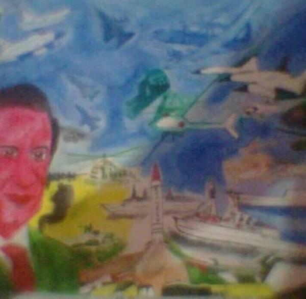 Wall Art - Drawing - Country War  by Nadim Ahmed Khan