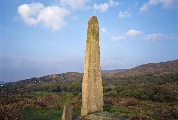 Wall Art - Photograph - County Cork, Ireland, Ogham Stone by The Irish Image Collection