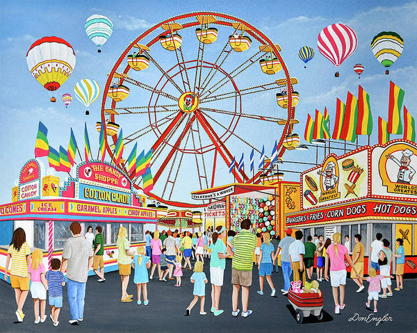 County Fair Painting - County Fair by Don Engler