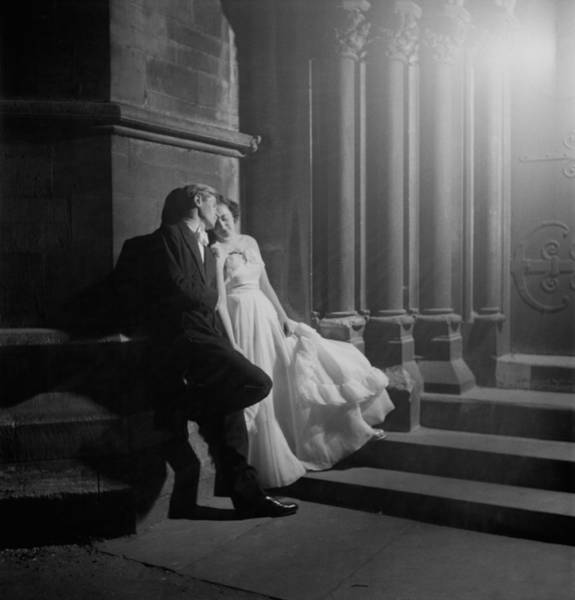 Evening Wear Photograph - Couple At Ball by Thurston Hopkins