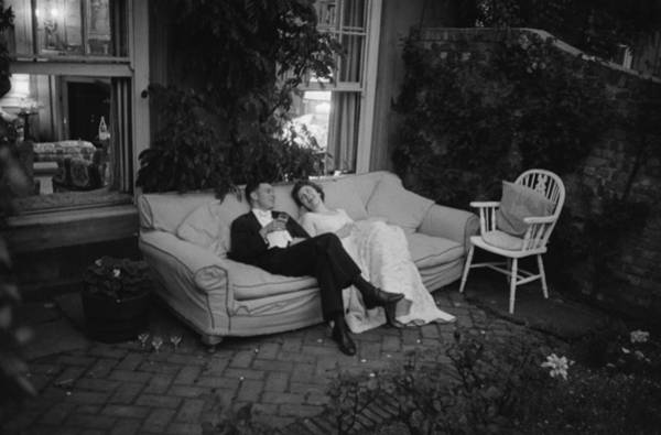 Horizontal Photograph - Couple At Party by Thurston Hopkins
