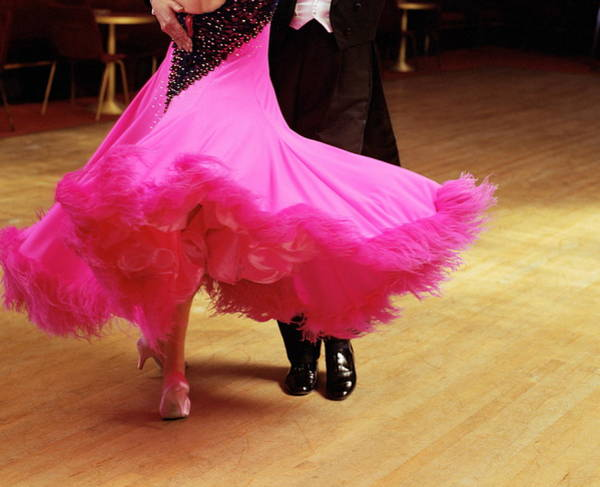 Couple Ballroom Dancing, Low Section Art Print