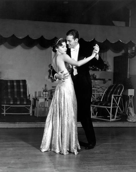 Heterosexual Couple Photograph - Couple In Formal Wear Dancing by George Marks